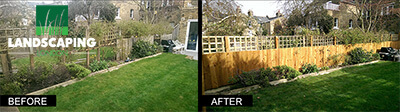 Fence Repair Before & After photo